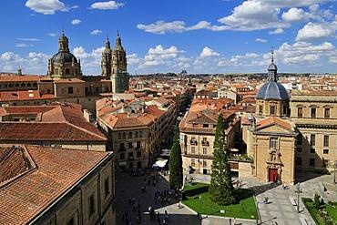 Overlooking the historic town of Salamanca, Unesco World Heritage Site, Castilla y Leon, Castile and Leon, Spain, Europe, PublicGround