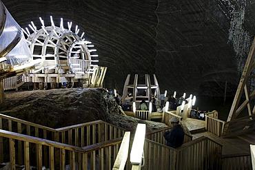 Salina Turda salt mine, Mina Terezia, Turda, Thorenburg, Cluj, Transylvania, Romania, Europe