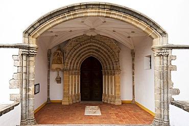 Sao Joao Evangelista Church door, Evora, Unesco World Heritage Site, Alentejo, Portugal, Europe