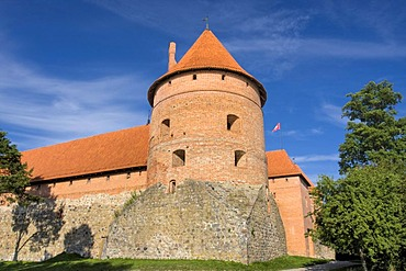 Trakai Island Castle, Trakai Historical National Park, Lithuania, Europe