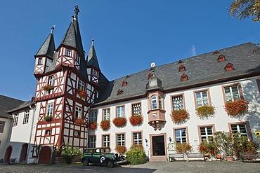 Broemser manor, Ruedesheim, Rheingau, Hesse, Germany, Europe