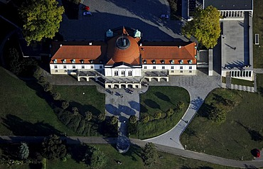 Aerial view of Marbach am Neckar, Schiller national museum, Museum of Modern Literature, Baden-Wuerttemberg, Germany, Europe