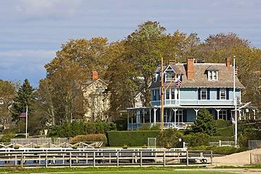 Georgian-style houses in Newport, Rhode Island, New England, USA