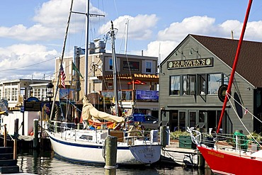 Harbor in Newport, Rhode Island, New England, USA