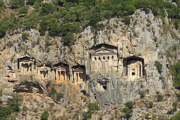 Rock tombs of Caunos near Marmaris, Turkish Aegean Coast, Turkey