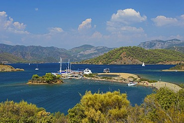 Calis Beach Island, Adlar, 12 island excursion, Fethiye, Turkish Aegean Coast, Turkey