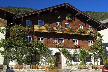 House in Marktplatz square in St. Veit, Pongau region, Salzburger Land, Austria, Europe
