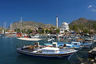 Fishing port of Bozburun near Marmaris, Turkish Aegean Coast, Turkey
