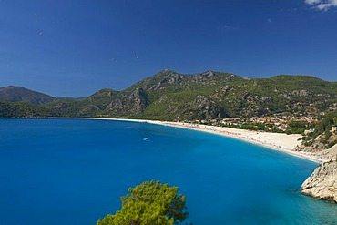 Beach of Oeluedeniz near Fethiye, Turkish Aegean Coast, Turkey
