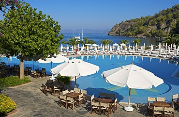 Pool at the Hillside Club in Fethiye, Turkish Aegean Coast, Turkey