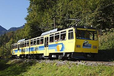 Wendelstein railway, cogwheel railway, Brannenburg, Upper Bavaria, Bavaria, Germany, Europe, PublicGround
