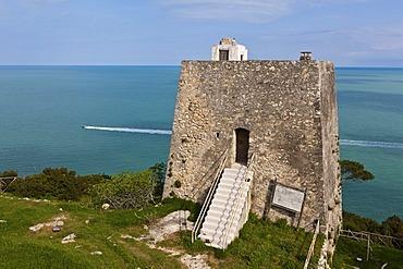 Torre di Monte Pucci, Saracen signal tower, watchtower, Gargano, Foggia, Apulia, Puglia, Southern Italy, Italy, Europe