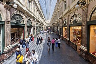 Galeries Royales St. Hubert, St. Hubert Galleries, Galerie de la Reine, Ilot Sacre, Brussels, Belgium, Benelux, Europe