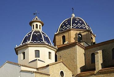 Parish church, Altea, Costa Blanca, Spain, Europe