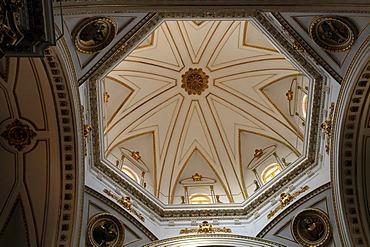 Interior view, dome of the parish church, Altea, Costa Blanca, Spain, Europe