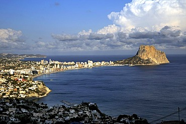 Penon de Ifach, rock, landmark of the Costa Blanca, Calpe, Costa Blanca, Spain, Europe