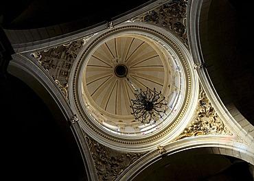 Dome of the Ermita de Santa Barbara Church, Monovar, Costa Blanca, Spain, Europe