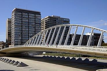Puente de Calatrava bridge, La Peineta, Valencia, Spain, Europe