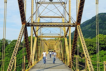 Bridge over the Magdalena river, city of Honda, Colombia, South America, Latin America