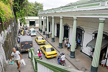 Historic market hall with columns and arcades, city of Honda, Colombia, South America, Latin America