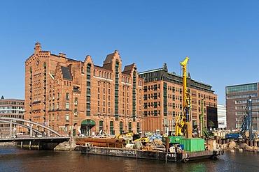 Construction site at the Maritime Museum in Hamburg's HafenCity, Hamburg, Germany, Europe