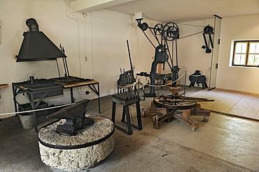 Blacksmith's workshop, Bauernhausmuseum Amerang farmhouse museum, Amerang, Bavaria, Germany, Europe