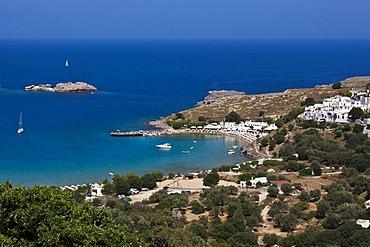 Bay of Lindos, Lindos, Rhodes, Greece, Europe