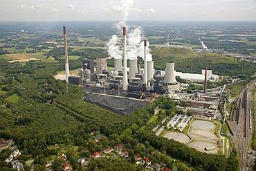 Aerial view, Scholven power plant, Gladbeck, Ruhr Area, North Rhine-Westphalia, Germany, Europe