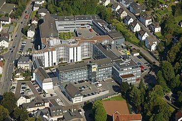 Aerial view, Viega GmbH & Co. KG, internationally active SME, small and medium-sized enterprises, in plumbing, Attendorn, Sauerland, North Rhine-Westphalia, Germany, Europe