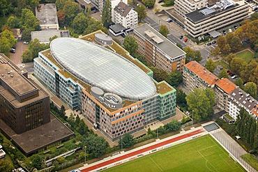 Aerial view, Deloitte & Touche GmbH, Schwanenstrasse, Deutsche Baurevision, Duesseldorf, Rhineland, North Rhine-Westphalia, Germany, Europe