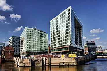 Spiegel publishing house and the Ericus-Kontor office building on Ericusspitze in HafenCity, Hamburg, Germany, Europe
