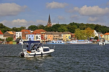 Malchow lake and town, Mecklenburg-Western Pomerania, Germany, Europe