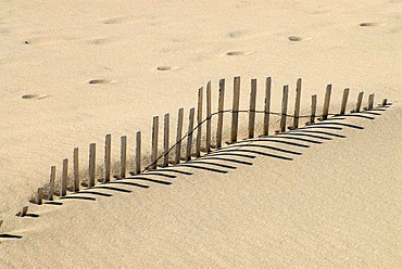 A sand fence in Chatham, east coast of Cape Cod, Massachusetts, USA