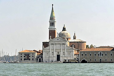 San Giorgio Maggiore island, built by Andrea Palladio in 1565, Unesco World Heritage site, Venice, Veneto region, Italy, Europe