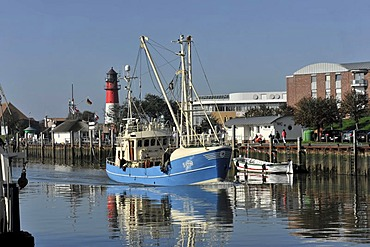 Shrimp cutter in the port of Buesum, Schleswig-Holstein, Germany, Europe