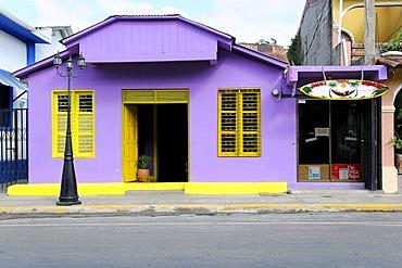 Surf shop, house front in San Juan del Sur, Nicaragua, Central America