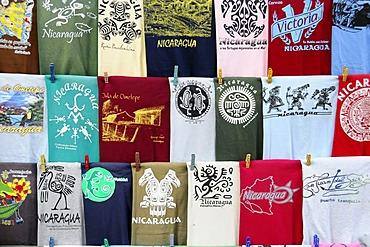 T-shirt sales, souvenirs, San Juan del Sur, Nicaragua, Central America