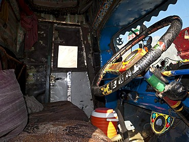 Colourfully decorated Pakistani truck, Gilgit, North West Frontier, Pakistan, South Asia