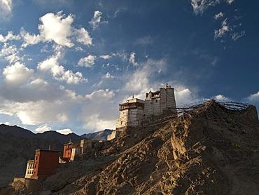 Namgyal Tsemo Gompa, overlooking Leh, the capital of the former kingdom of Ladakh, Leh, Jammu and Kashmir, India, Asia