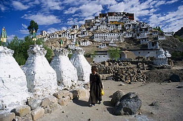Thiksey, one of the most important monasteries in Ladakh, Thiksey Gompa, Jammu and Kashmir, India, Asia