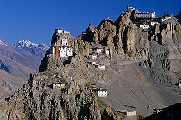 Dankar Gompa, Buddhist monastery in Spiti, Dankar Gompa, Himachal Pradesh, India, Asia