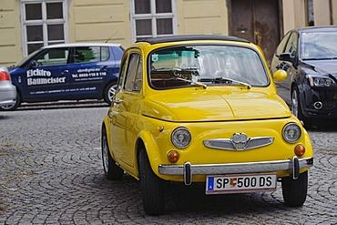 Fiat 500, classic car, Krems, Wachau valley, Lower Austria, Austria, Europe