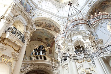 Interior view, Nicolas Church, sv. Mikulas, Old Town Square, Prague, Czech Republic, Europe