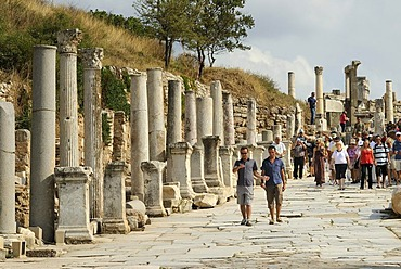 Ephesus, Efes, UNESCO World Heritage Site, excavations, Curetes Street, Selcuk, Lycia, Southwest Turkey, west coast, Western Turkey, Turkey, Asia Minor, Asia