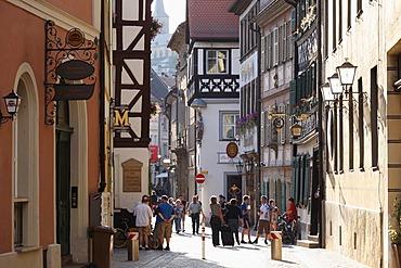 Obere Sandstrasse, a street in Bamberg, Upper Franconia, Franconia, Bavaria, Germany, Europe, PublicGround