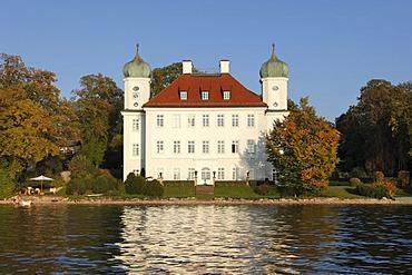 Schloss Ammerland Castle, Pocci Palace, Muensing, Starnberger See Lake or Lake Starnberg, five lakes region, Upper Bavaria, Bavaria, Germany, Europe, PublicGround