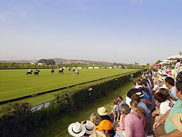 Spectators at a polo tournament, Santa Maria Polo Club, Sotogrande, Andalucia, Spain, Europe
