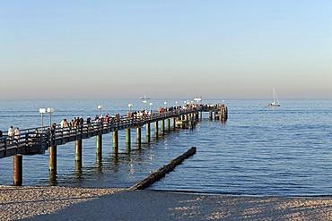 Pier, Kuehlungsborn-Ost, Baltic Sea, Mecklenburg-West Pomerania, Germany, Europe