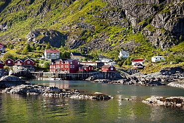 Town of A, Moskenesoy, Lofoten Islands, North Norway, Norway, Scandinavia, Europe