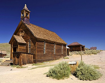 Methodist Church, ghost town of Bodie, a former gold mining town, Bodie State Historic Park, California, United States of America, USA